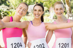 Portrait of young athlete women posing Stock Images