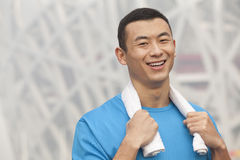 Portrait of young athletic man in Beijing Royalty Free Stock Photo