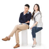 Portrait of young attractive Asian couple Stock Photos