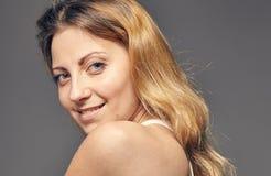 Portrait of a young attractive woman. Portrait of a young attractive blonde woman Stock Photo