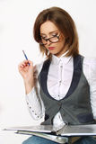 Portrait of a young attractive business woman. Royalty Free Stock Image