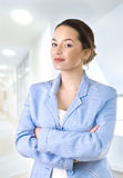 Portrait of a young attractive business woman. Stock Photography