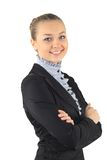 Portrait of a young attractive business woman. Stock Images