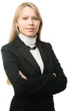 Portrait of a young attractive business woman Royalty Free Stock Photos