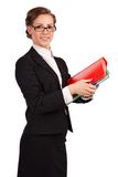 Portrait of a young attractive business woman. Stock Image