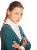 Portrait of a young attractive business woman. Royalty Free Stock Photo