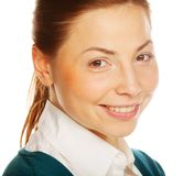 Portrait of a young attractive business woman. Royalty Free Stock Photography