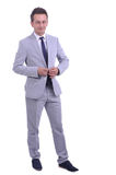 Portrait of young attractive businessman Stock Photo