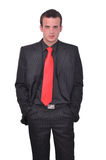 Portrait of young attractive businessman Stock Images
