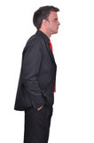 Portrait of young attractive businessman Stock Photos