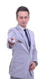 Portrait of young attractive businessman Stock Photography