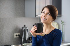Morning housewife Stock Images