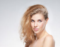 Portrait of a young and attractive Caucasian woman Stock Photos