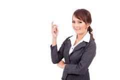 Portrait of a young attractive confident business woman Stock Photos