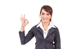 Portrait of a young attractive confident business woman Stock Photo