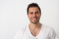 Portrait of a Young Attractive Likeable Man Royalty Free Stock Photos
