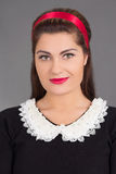 Portrait of young attractive maid Royalty Free Stock Image
