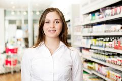 Portrait of Young Attractive Pharmacist Stock Photography