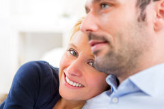 Portrait of a young attractive 30s couple Stock Images