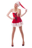 Portrait of  a young attractive sexy Santa girl Royalty Free Stock Photo