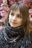 Portrait young attractive teen girl stock photo