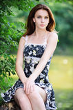 Portrait of young attractive woman Royalty Free Stock Images