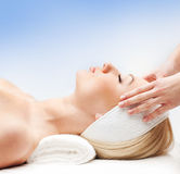 Portrait of a young woman on a spa procedure Royalty Free Stock Photography