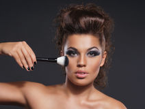 Portrait of a young attractive woman in makeup Royalty Free Stock Image