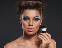 Portrait of young attractive woman in makeup Royalty Free Stock Photography