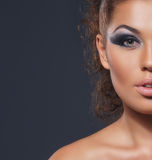 Portrait of young attractive woman in makeup Stock Photography
