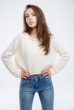 Portrait of a young attractive woman Royalty Free Stock Images