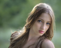 Portrait of young attractive woman Stock Photos