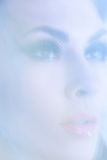 Portrait of young attractive women in the mystical haze. Royalty Free Stock Photos