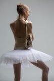 Portrait of young ballerina in white tutu Stock Photo