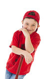 Portrait of a young baseball player  Royalty Free Stock Image