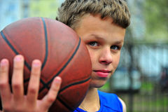 Portrait of a young basketball player Stock Photography