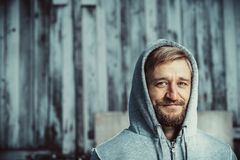 Portrait of a young bearded man royalty free stock photos
