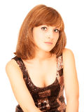 Portrait of young beatiful woman. Looking to camera Royalty Free Stock Photography