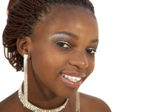 Portrait of Young Beautiful African Woman Stock Images