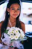 Portrait of a young beautiful Asian bride on her wedding day Stock Images