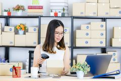Asian business lady at office stock photo
