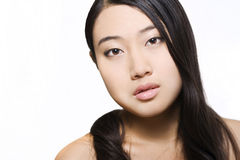 Portrait of young beautiful asian model Royalty Free Stock Photo
