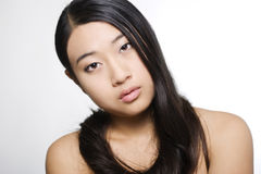 Portrait of young beautiful asian model Stock Photography