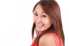 Portrait of a young beautiful asian woman - Asian people Stock Photo