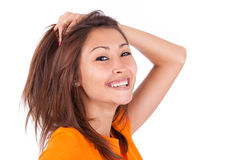 Portrait of a young beautiful asian woman Stock Photo