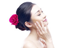Portrait of a young and beautiful asian woman Royalty Free Stock Image