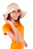 Portrait of a young beautiful asian woman in summer clothes - As Royalty Free Stock Photography
