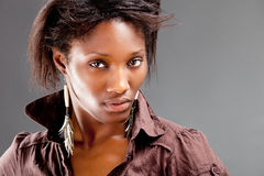 Portrait of a young beautiful black woman Stock Image