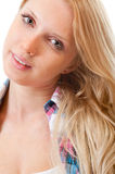 Portrait of young beautiful blond Royalty Free Stock Photos