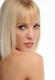 Portrait of young Beautiful Blond Woman Royalty Free Stock Photo